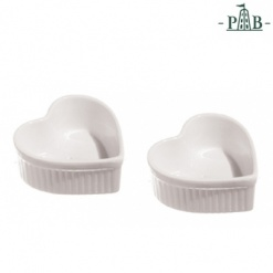 CUPIDO HEART RAMEKIN 2PCS SET cm 10x9 GB