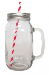 Mason 2 (mason) glass jars with 10 straws and 6 washi tapes