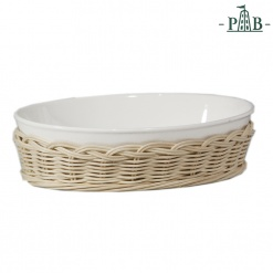 Wicker For Oval Bak.Dish Cm 36X25,5X6,5