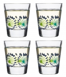Fantasy glass small 4-pack, blue
