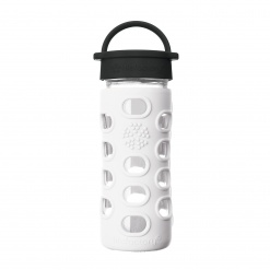 Lifefactory 12 oz Glass Bottle Core 2.0 - Arctic White