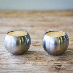 Espresso Cups Stainless Steel Set of 2