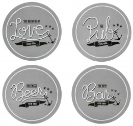 Club coasters, 4-pack