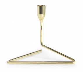 """Puzzle"" Candleholder Small Gold"