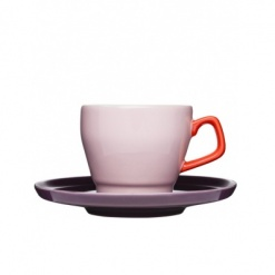 POP coffee cup with saucer, Pink