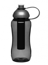 Fresh Bottle with ice piston, grey
