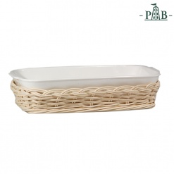 WICKER FOR ANGHIARI BAKING DISHcm35x22