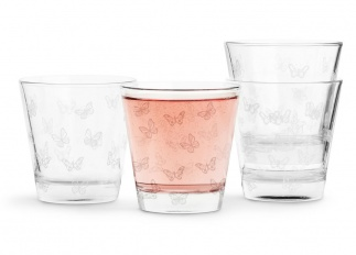 Butterfly glass 4-pack