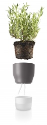 Self watering plant pot 11cm Nordic grey