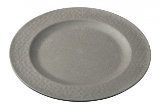 Small Plate HAMMERED Stone Grey