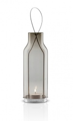 Glass lantern 20cm Smokey grey