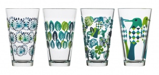 Fantasy glass large 4-pack, blue