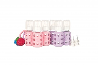 Lifefactory 4oz Starter Set - 6 bottles - Pink/Lilac