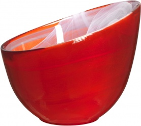 Candy bowl red