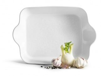 Piccadilly square dish ovensafe, white