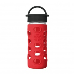 Lifefactory 12 oz Glass Bottle Core 2.0 - Apple Red