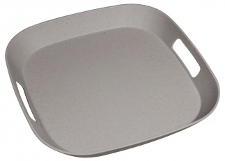 FOURSQUARE SERVING MATE tray Stone grey
