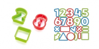 Cookie cutters numbers DELICIA KIDS, 21 pcs