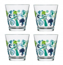 Fantasy glass medium 4-pack, blue