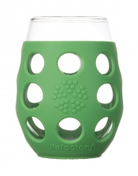 Lifefactory 11oz Wine Glass - 2pk - Grass Green