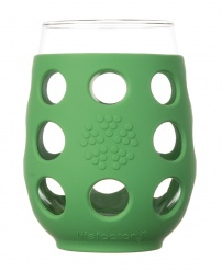Lifefactory 11oz Wine Glass - Open Stock - Grass Green