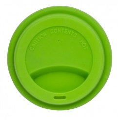 Silicone lid take away green