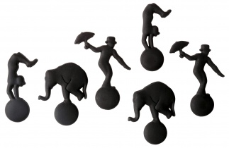 CIRCUS MAGNET set of 6 Black*