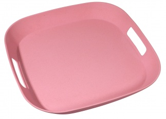 FOURSQUARE SERVING MATE tray Lollipop pink