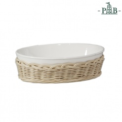 Wicker For Oval Bak.Dish Cm 19X13,5X6