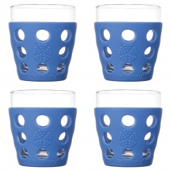 Lifefactory 10oz Beverage Glass - 4pk - Cobalt