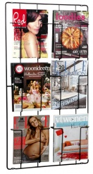 Frame-6 Magazine Wallrack Bk