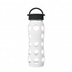 Lifefactory 22 oz Glass Bottle Core 2.0 - Arctic White