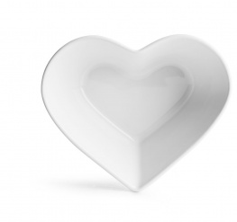 Heart bowl white