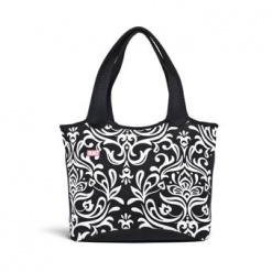Everyday Shoulder Tote Damask Black & White