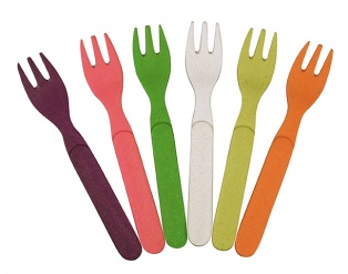 FORK FUL OF COLOUR set/6 Rainbow colours