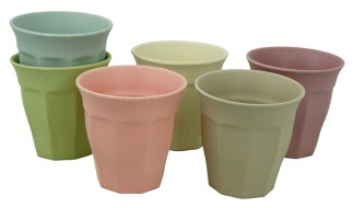 CUPFUL OF COLOUR large cups set/6 DWN