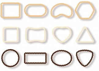 Cookie Cutters Biscuits, 12 Pcs Delicia
