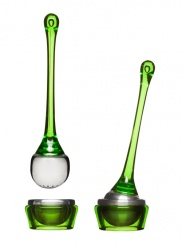 Tea Infuser with holder, green