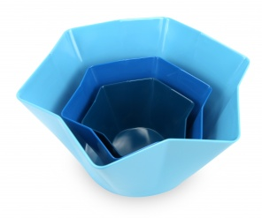 Strass Pack of 3 preparation bowls with pouring spouts - Blue