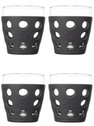 Lifefactory 10oz Beverage Glass - 4pk - Carbon