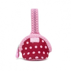 Paci-finder: Single Pacifier Holder Baby Pink Stripe