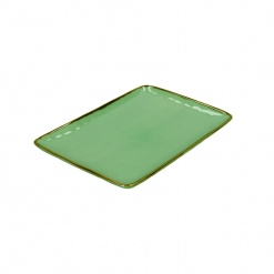CONCERTO (Tiffany Green) VERDE ACQUA Rectangular Tray Ø 27 cm; W 19 cm