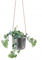 Self watering hanging pot, Nordic grey