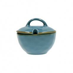 CONCERTO (Blue) BLU AVIO Sugar Bowl with lid Cap. 250 cc; Ø 11 cm