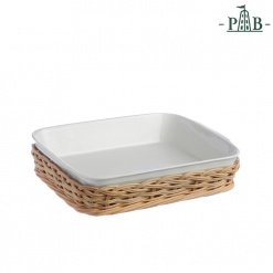 WICKER FOR SQ.BAK.DISH CM23X18(#)