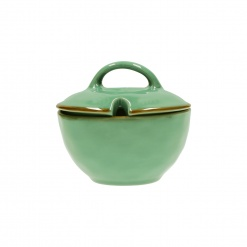CONCERTO (Tiffany Green) VERDE ACQUA Sugar Bowl with lid Cap. 250 cc; Ø 11 cm