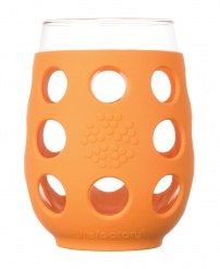 Lifefactory 17oz Wine Glass - 2pk - Orange