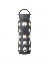 Lifefactory 22 oz Glass Bottle with 24 carat Fused Gold - Onyx Freestyle
