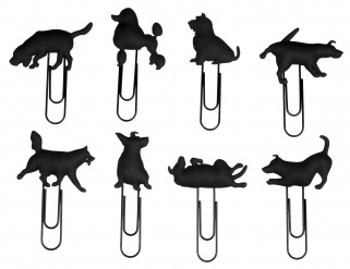 DOG CLIP set of 8 Black