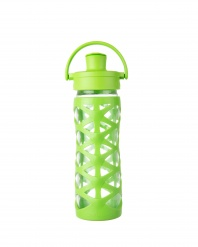 Lifefactory 16 oz Glass Bottle with Active Flip Cap - Lime